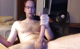 mature guy loves his huge cock