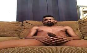 big girth black cock on sexy black dude