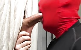 str8 college athlete getting suck thru a glory hole