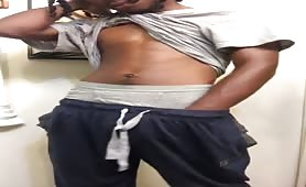 Jamaican dude showing his tasty monster cock