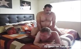 Bearded daddy fucks his lover hard in the ass