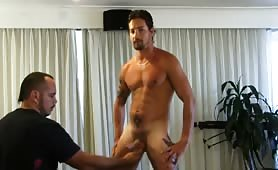 Straight guy gets serviced