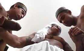 Arab dudes having fun with their thick cocks