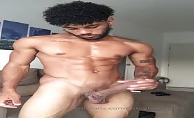 Huge latin dick little cum