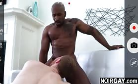 Straight black guy helps his white gay friend make a sex video