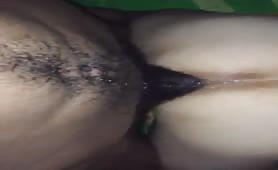 Black daddy with a 10 inch cock opens up a white boy raw