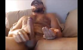 Big bear fat uncut dick