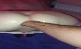 Stretching a hot bubble butt for my cock