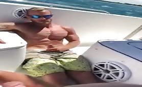 Jerking off in my str8 friend boat to see who shoots a large load