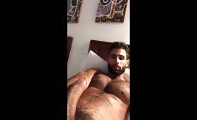 Hot latino Pablo Hernandez stroking his tatsty cock