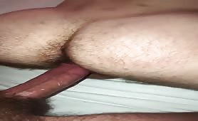 Pounded and breed my roommate with mi huge white cock