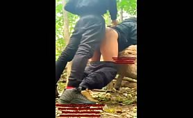 Horny guys desperate to fuck in the woods