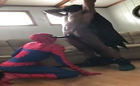 Batman fucking spiderman raw