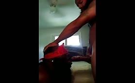 Black thug sucking a huge juicy beefy cock
