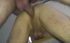Depositing my sperm inside a hairy daddy's ass