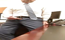 So horny a I decided to wank my cock in the office