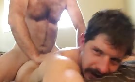 Two sexy married hairy guys having fun
