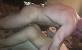 Sexy muscular guy breeds a used raw wet hole