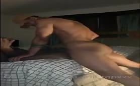 Hot muscle guy drilling a sexy tight hole