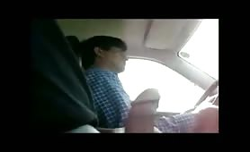 Masturbating right in front of a taxi driver