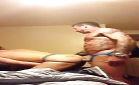 Muscle daddy and jock fucks each other hard