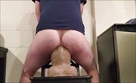 Monster cock dildo breaking my ass