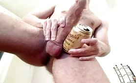 Hot white dude showing his fat uncut cock