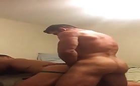 Muscled daddy fucking his sexy boy toy