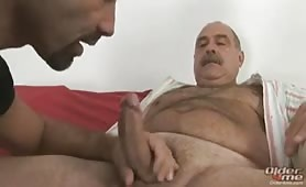 Big italian daddy getting a blowjob