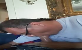 Horny pastor sucking a young DL