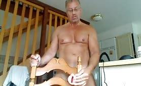 Horny mature guy fucking his fleshlight