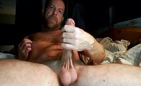 Fingering my ass and wanking my cock