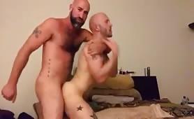 Two similar studs fucking hard