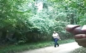 Caught jerking off in the woods