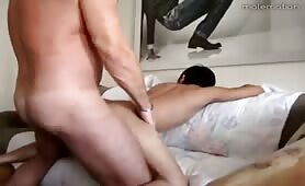 My cute boyfriend always puts his ass on the couch so I can fuck him