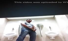 Spying in the public toilets cute and huge cocks