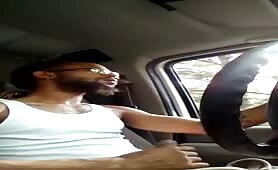 Stroking my cock while driving to work