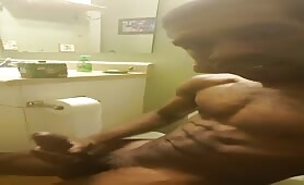 Horny muscular guy cumshot on his chest