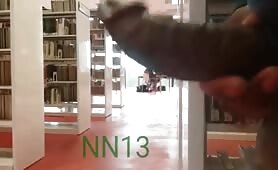Masturbating at the college library