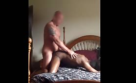 Married white construccion worker pounds a black bitch