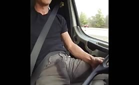 white guy peeing and ending up in his pants in the car
