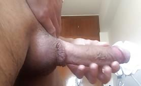 fat cock head dripping cum till orgasm