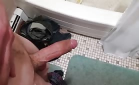 jerking off before a shower