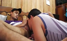 My bisexual bro suck my ass for first time..