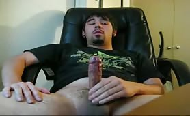 weary and jerking my uncut cock