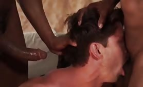 loving it fucking with two big black dick